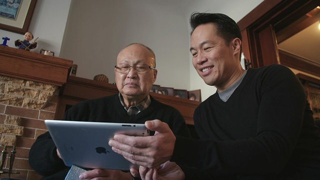 Richard Lui and Father