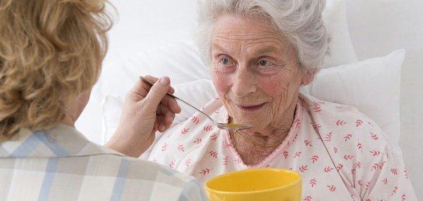 feeding soup