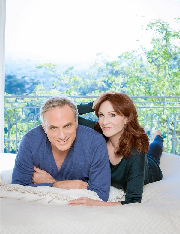 Marilu Henner and Michael Brown