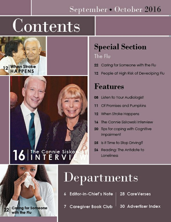 Today's Caregiver magazine September/October Issue - Contents
