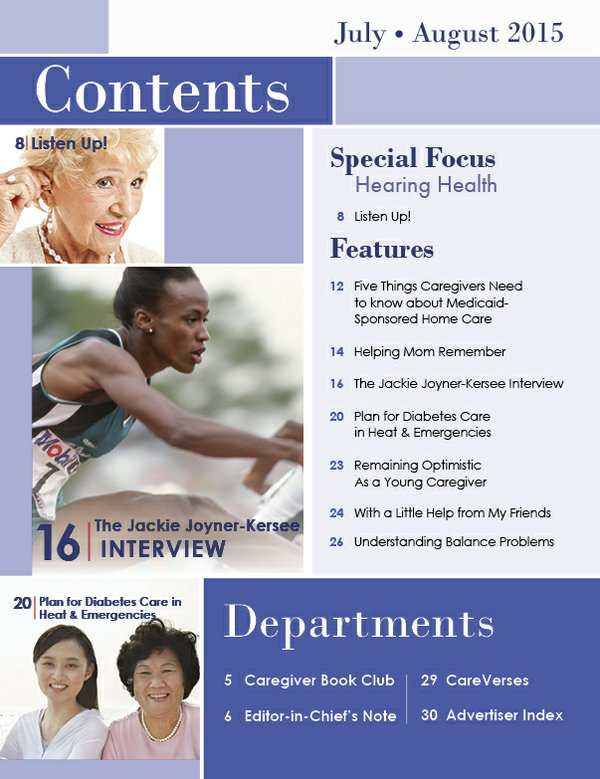 Today's Caregiver magazine July/August Issue - Contents