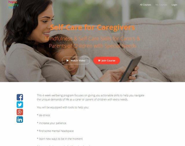 Happy Healthy Mind Caregiver Course