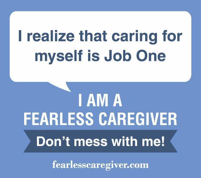 Careing for Myself - Fearless Caregiver Graphic