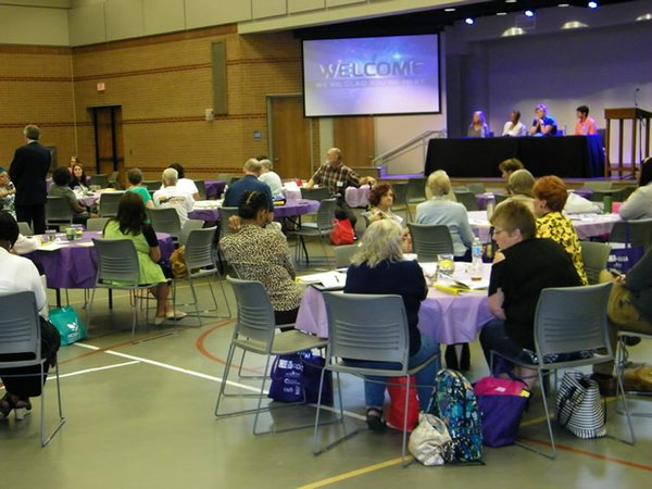 Fearless Caregiver conference attendees ask questions of the panelists, 062217.2.jpg