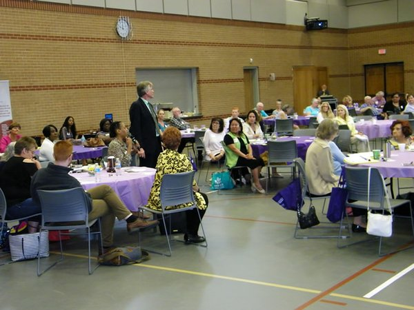 Fearless Caregiver conference attendees ask questions of the panelists, 062217.jpg