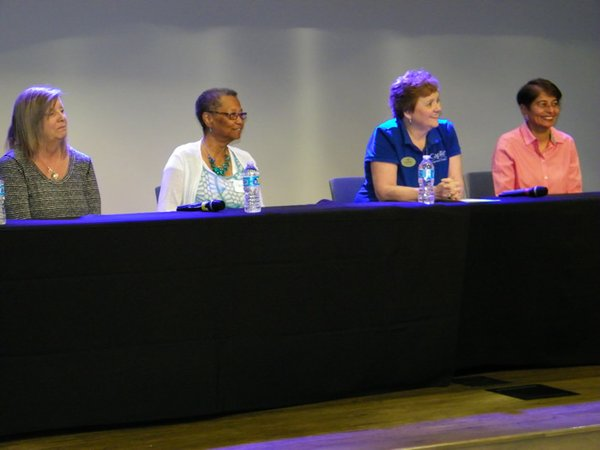 Martha Rains, Margaret Love, Nancy Foster and Dr. Chandini Sharma at the Fearless Caregiver conference, 062217.jpg