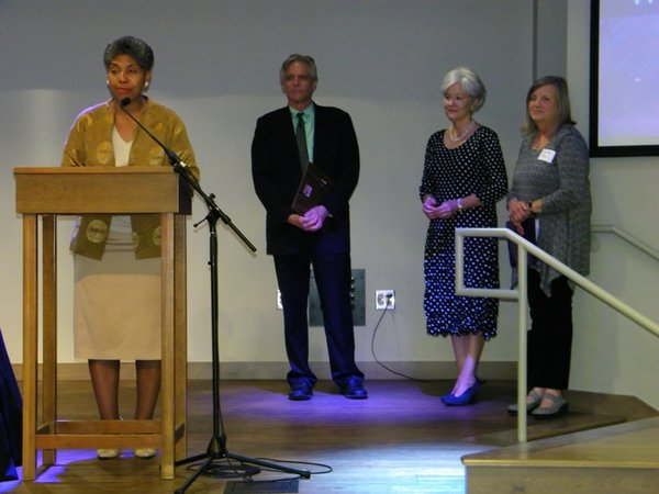 St. Rep. R. Goodwin receives award from G. Barg, S. Savage and M. Rains at Fearless Caregiver conf., June 22.jpg