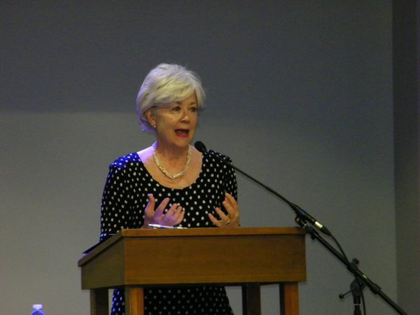 Susan Savage addresses audience at Fearless Caregiver Conference, June 22, 062217.jpg